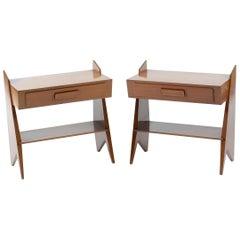 Midcentury Pair of Italian Nightstand or Side Table, 1950s