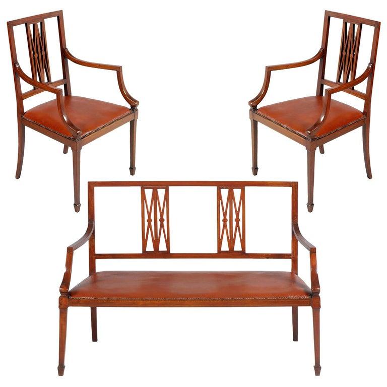 Pleasant Sofa And Armchairs Labelled Jakob Joseph Kohn Wien Josef Hoffmann Style Lamtechconsult Wood Chair Design Ideas Lamtechconsultcom