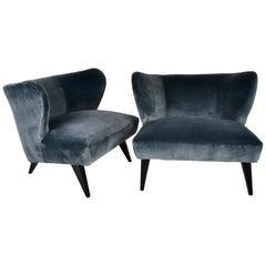 Norman Bel Geddes Pair of Modern Lounge Chairs, USA, 1939