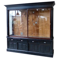 1920 Art Deco Retail Mercantile Store Display Cabinet