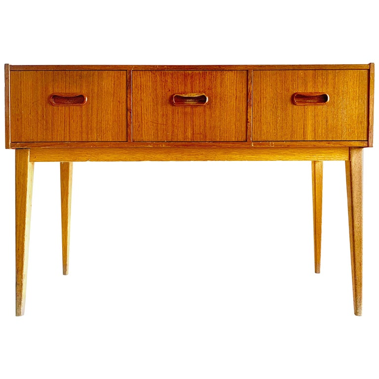 Swedish Midcentury Teak Chest of Drawers, 1960s For Sale
