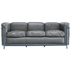 Le Corbusier LC2 Leather Sofa by Cassina