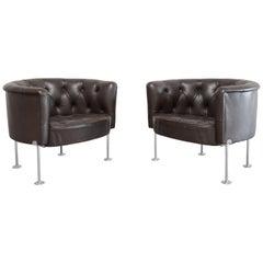Robert Haussmann RH 310 Armchairs by De Sede