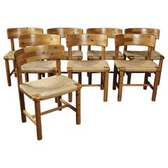 Rare Set of Eight Dining Chairs Designed by Rainer Daumiller, circa 1970