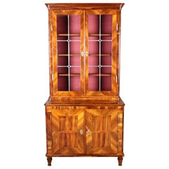 Baroque Display Case Bookcase Walnut, 18th Century
