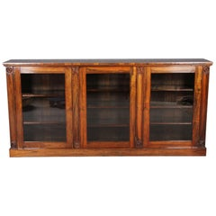 Regency Sideboard for Books, circa 1830 Rosewood