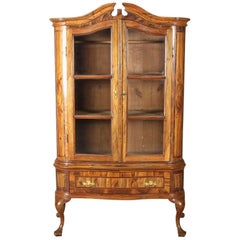 Small Baroque Vitrine 18th Century Walnut