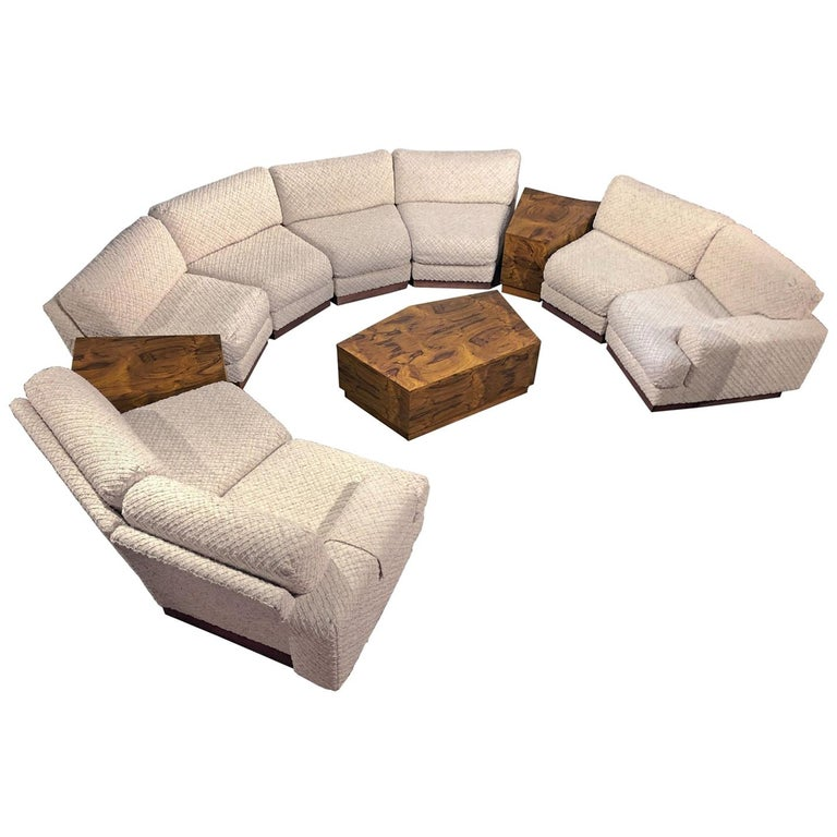 Windsor Sectional Sofa Couch And End Tables Set Milo Baughman Style