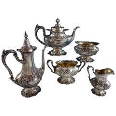 Francis I by Reed & Barton Sterling Silver Tea Set 5-Piece #570A Monogram K