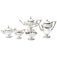 Sterling Tea and Coffee Service, American, Elegant and Well Chased