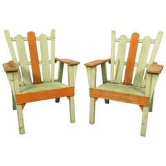 1940s Adirondack Lounge Chairs