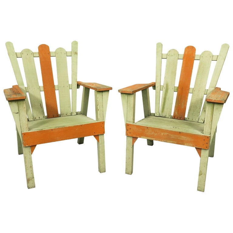 1940s Adirondack Lounge Chairs For Sale