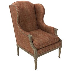 Louis XVI Style Wing Chair, circa 1920s
