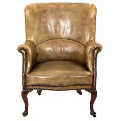Early 19th Century French Leather Wing Chair