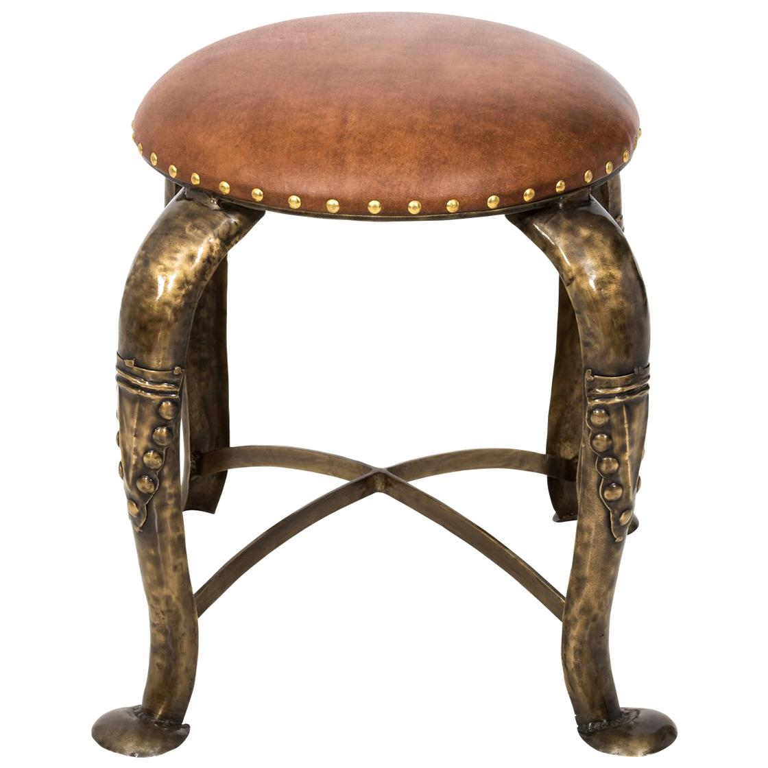 Marvelous Hermes Pippa Leather Campaign Stool At 1Stdibs Gmtry Best Dining Table And Chair Ideas Images Gmtryco