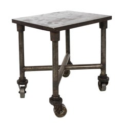Early 20th Century Industrial Side Table