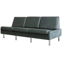 COR Model Conseta Leather Sofa Green, 1960s
