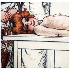 """The Naked Lady"" Lithograph by Adrien Barrere"
