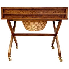 Danish Cabinetmaker, Sewing Table, Rosewood