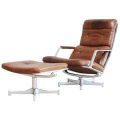 Kill International FK 85 Lounge Chair Cognac Leather design Kastholm / Fabricius