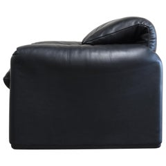 Cassina Maralunga Leather Chair by Vico Magistretti