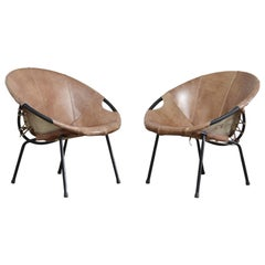 Lusch + Co Balloon Cocktail Leather brown Chair