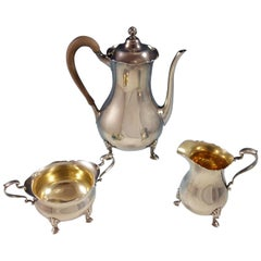 Reed & Barton Sterling Silver Demitasse Set of 3-Piece