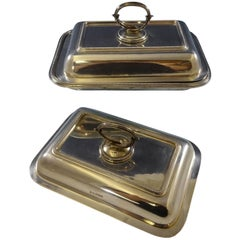 Bead by Walker & Hall Sterling Silver Covered Vegetable Dish and Extra Cover