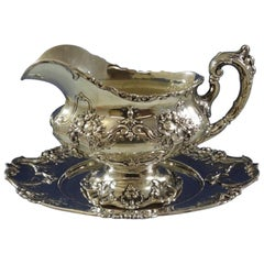 Francis I by Reed & Barton Sterling Silver Gravy Boat with Underplate