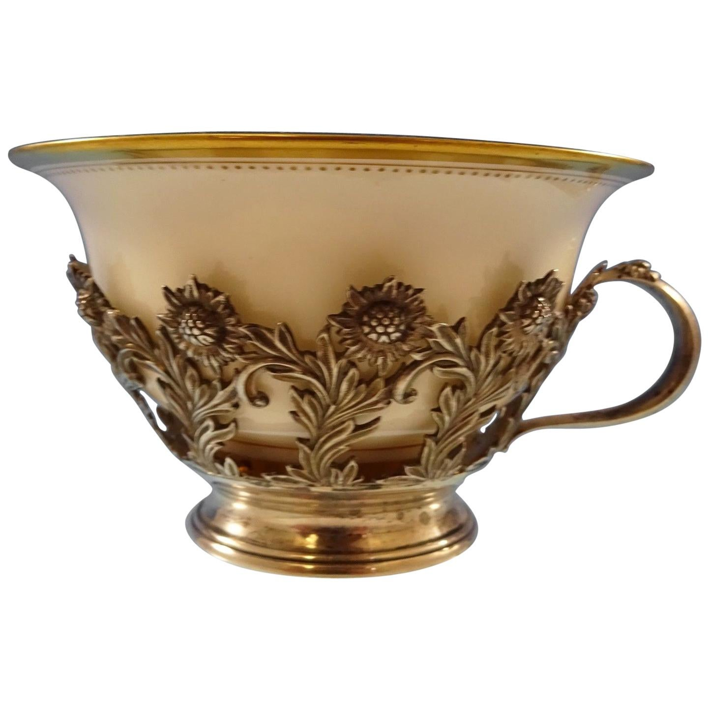 Chrysanthemum by Tiffany & Co. Sterling Silver Tea Cup with Lenox Liner
