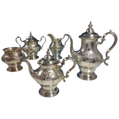 Chantilly Countess by Gorham Sterling Silver Coffee Tea Set 5-Piece