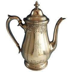 Navarre by Watson Sterling Silver Coffee Pot Chased #9826