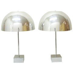 Pair of Mushroom Lamps by Paul Mayen, 1960s