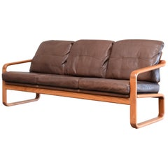 Danish Leather Sofa Holstebro