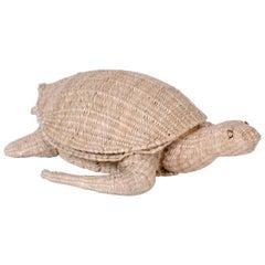 Midcentury Mario Torres Wicker Turtle