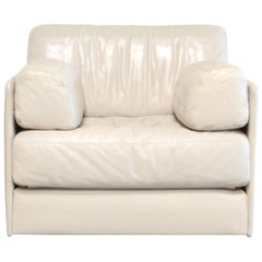 De Sede DS 76 white creme leather Armchair / Daybed