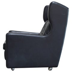 Kill International Highback Lounge Leather Chair black