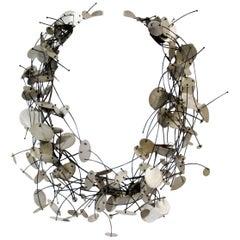 Modern Enric Majoral Sterling Silver Pluja Necklace