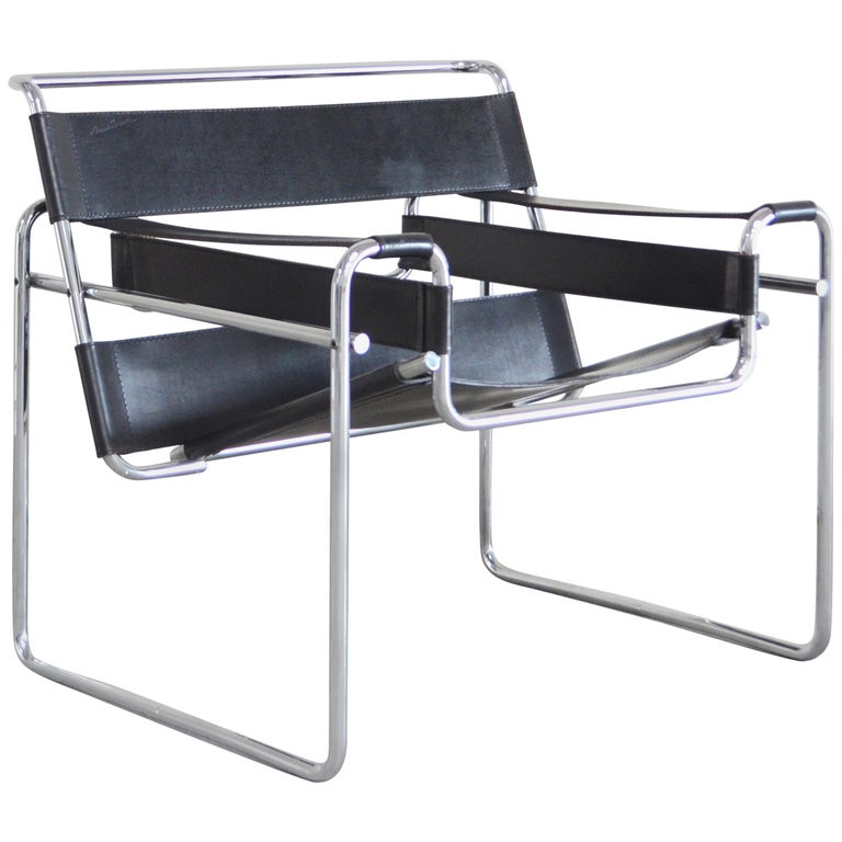 Knoll International Wassily Chair by Marcel Breuer For Sale