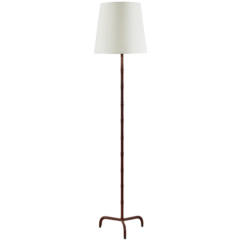 Floor Lamp Attributed to Jacques Adnet For Sale