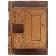 19th Century Leather Ledger Book