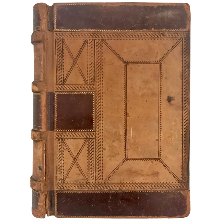 19th Century Leather Ledger Book For Sale