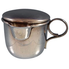 Lopez Mexican Mexico Sterling Silver Baby Cup with Spout and Cover