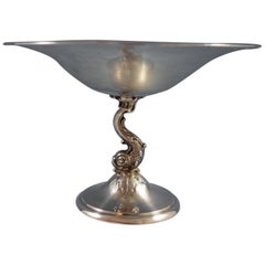 Redlich Sterling Silver Compote with 3-D Fish #8847