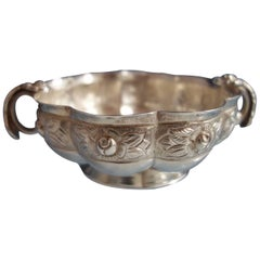 Aztec Rose by Sanborns Mexican Mexico Sterling Silver Soup Bowl
