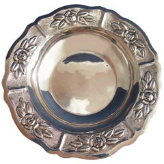 Aztec Rose by Maciel Mexican Mexico Sterling Silver Fruit Bowl #6522/5