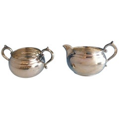 Old French by Gorham Sterling Silver Sugar and Creamer Set of 2 Pieces