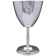 Juvento Lopez Reyes Mexican Sterling Silver Wine Goblet