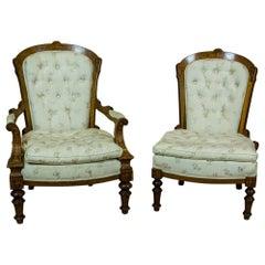 Set of 2 English Armchairs, circa 1860