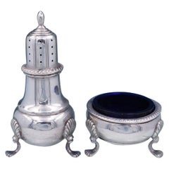 Gadroon by Fisher Sterling Silver Salt Dip and Pepper Shaker Set